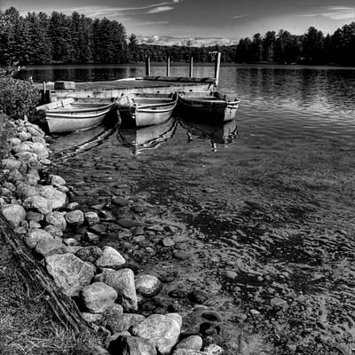 The Dock At Camp Russell Print by David Patterson