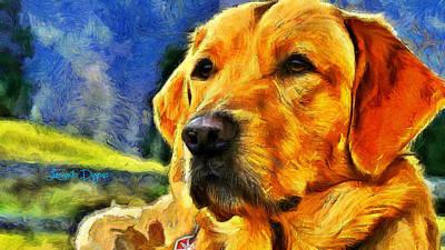 Friend Digital Art - The Dog - Da by Leonardo Digenio