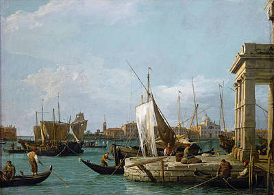 Painting - The Dogana In Venice by Canaletto