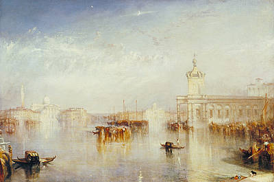 British Painting - The Dogano, San Giorgio, Citella, From The Steps Of The Europa by JMW Turner
