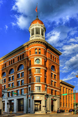The Dome Building Flatiron Buildings Chattanooga Tennessee Print by Reid Callaway