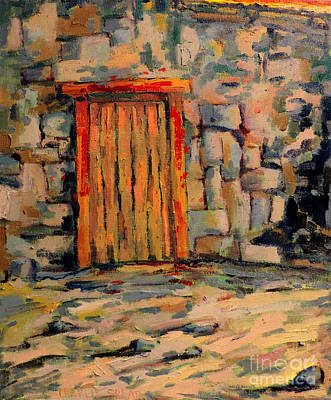 The Door Posts In Guilded Frame Locally Made Original by Charlie Spear