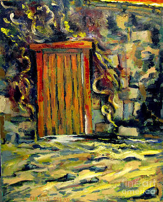 The Door Posts Passover Reworked In Guilded Frame Locally Made Original by Charlie Spear