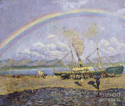 Bay Painting - The Downpour by Celestial Images