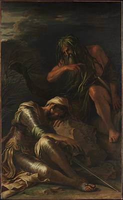 Dream Painting - The Dream Of Aeneas Artist Salvator Rosa by MotionAge Designs