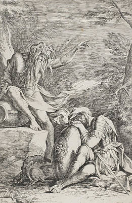 The Dream Of Aeneas Print by Salvator Rosa