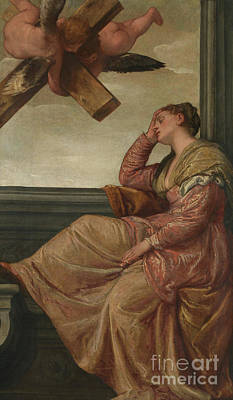 The Dream Of Saint Helena Print by Veronese
