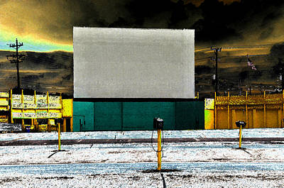 1950s Movies Digital Art - The Drive In by David Lee Thompson