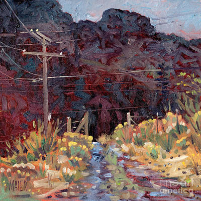 Telephone Poles Painting - The Driveway by Donald Maier