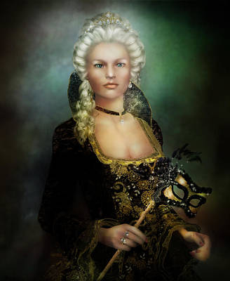 Ball Gown Digital Art - The Duchess by Mary Hood