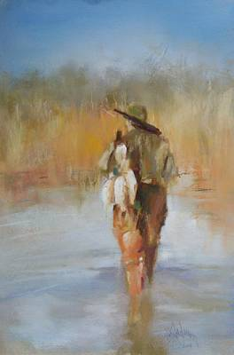 The Duck Hunter Print by Debbie Anderson