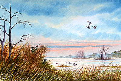 Waterfowl Painting - The Duck Hunters Companion by Bill Holkham