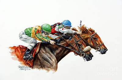 Racehorse Painting - The Duel by Thomas Allen Pauly