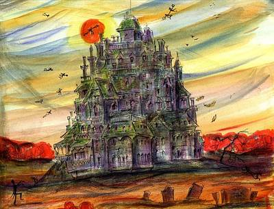 Haunted House Painting - The Dust House by John York