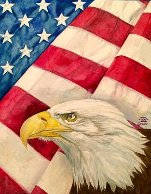 The Eagle And The Flag Original by Nigel Wynter