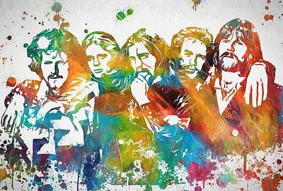 The Eagles Paint Splatter Tribute Print by Dan Sproul