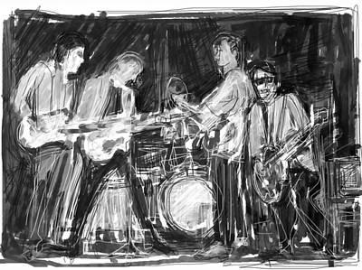 Ringo Digital Art - The Early Beatles by Russell Pierce