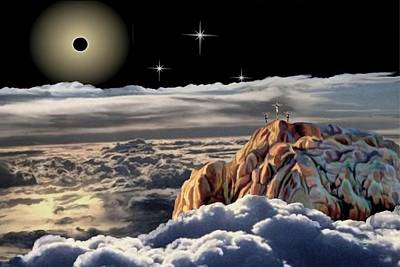 The Eclipse At Calvary Print by Ron Chambers