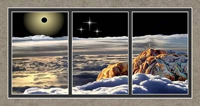 The Eclipse At Calvary Split Image Print by Ron Chambers
