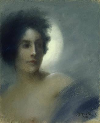 Ou Pastel - The Eclipse by Paul Albert Besnard