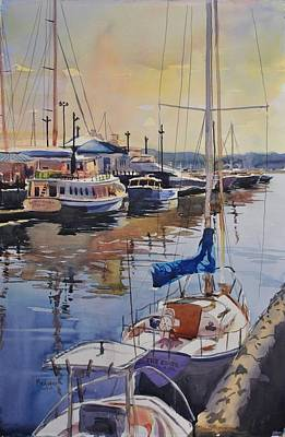 Maine Painting - The Edge At Portland by Spencer Meagher
