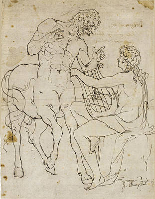 Drawing - The Education Of Achilles 2 by James Barry