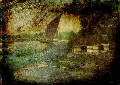 Digital Art - The Eel Fisher's Hut by Sarah Vernon
