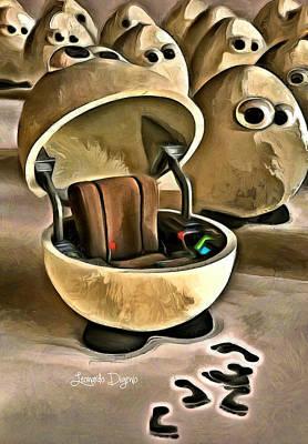 Aviator Digital Art - The Egg Pilot - Da by Leonardo Digenio