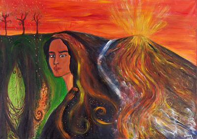 The Elemental Goddess Original by Solveig Katrin