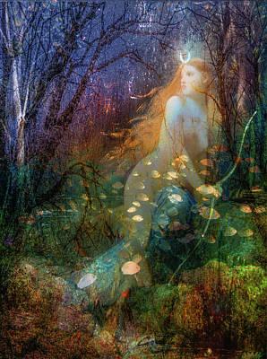 Mermaid Photograph - The Elements Water by Debra and Dave Vanderlaan