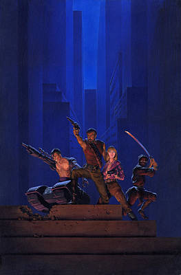 Knight Painting - The Eliminators by Richard Hescox