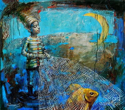 The Elusive Golden Fish Original by Michal Kwarciak