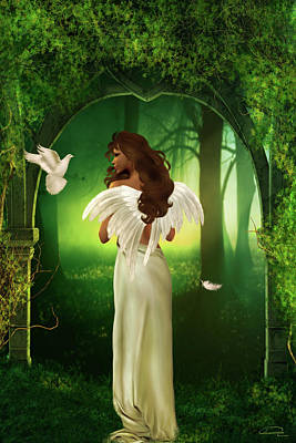 Forest Mixed Media - The Emotion Of The Angel by Emma Alvarez