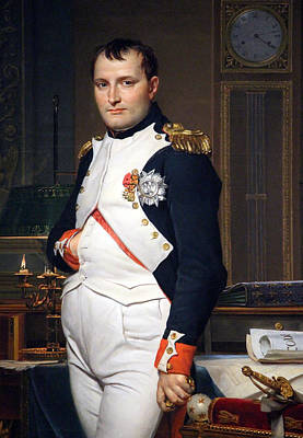 David Jacques Louis 1748-1825 Photograph - The Emperor Napoleon In His Study At The Tuileries By Jacques Louis David -- Up Close by Cora Wandel