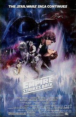 Star Mixed Media - The Empire Strikes Back by Baltzgar