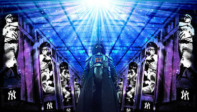 Yankee Stadium Digital Art - The Empire Strikes Back New York Yankees Edition Iv by Aurelio Zucco