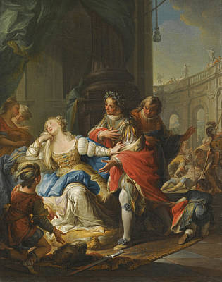 Painting - The Empress Gunhilda Accused Of Adultery Is Avenged By Her Page by Andrea Casali