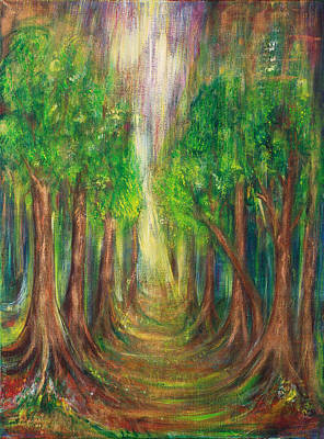 The Enchanted Wood Print by Solveig Katrin