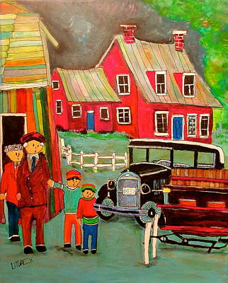 Litvack Naive Painting - The End Of An Era St. Lin by Michael Litvack