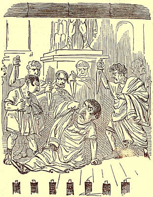 The End Of Julius Caesar Print by English School