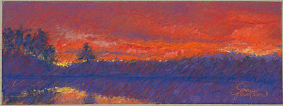 The End Of Sunset Print by Grace Goodson