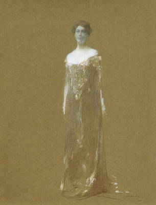 Evening Dress Painting - The Evening Dress by Thomas Wilmer