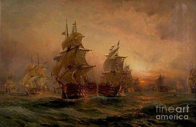 Claude Painting - The Evening Of Trafalgar by MotionAge Designs