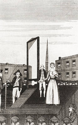 The Execution Of Charlotte Corday Print by Vintage Design Pics