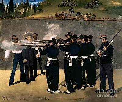 The Execution Of The Emperor Maximilian Print by Edouard Manet