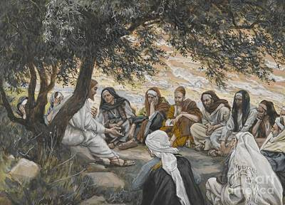 The Exhortation To The Apostles Print by Tissot