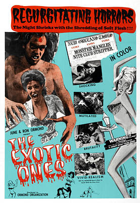 1960s Poster Art Photograph - The Exotic Ones, Aka The Monster And by Everett