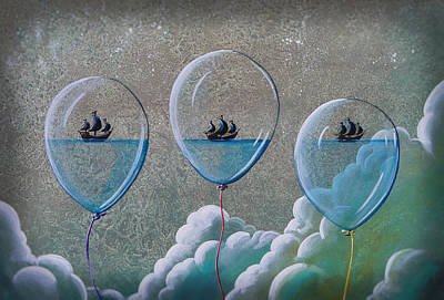 Pirate Ships Painting - The Explorers by Cindy Thornton