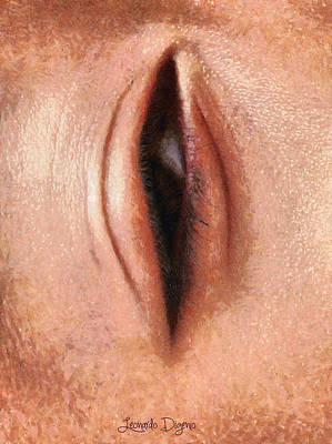 Pussy Digital Art - The Eye - Da by Leonardo Digenio