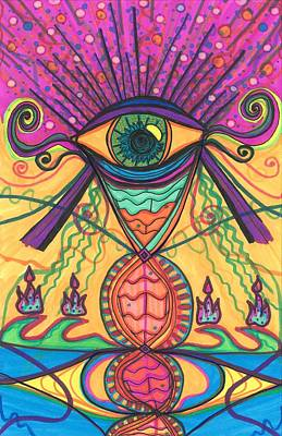 Drawing - The Eye Opens... To A New Day by Daina White